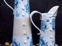 Delph Cone Button Jugs M £68 SOLD S £58 SOLD