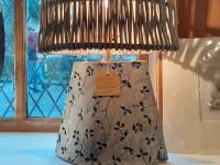 Denim Elipse Lamp Base with Shade SOLD