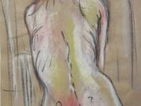 Seated Nude Original £100 Pastel & Charcoal Prints available £45-48
