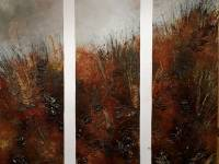 Near Vixen Tor 2017 Triptych Aprox H 1.4m x H1.4m £2000 will split at £980 each