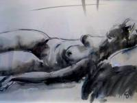 Female Nude Pen Wash SOLD