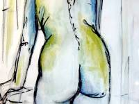 Standing Nude wash & Ink SOLD Prints available £45-£48